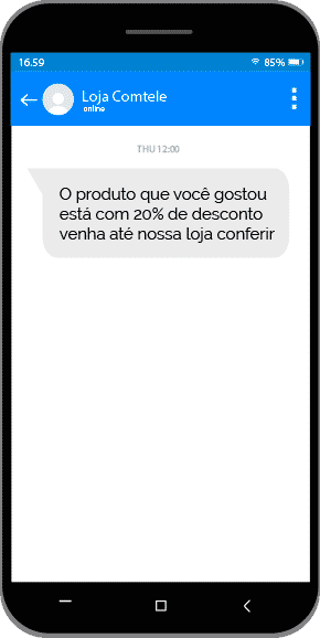 Exemplo SMS Marketing