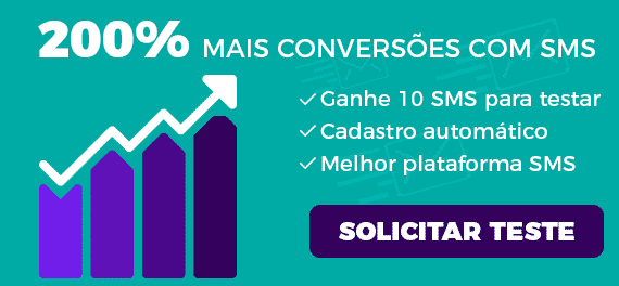 Gráfico mostrando mais de 200% de conversão por sms